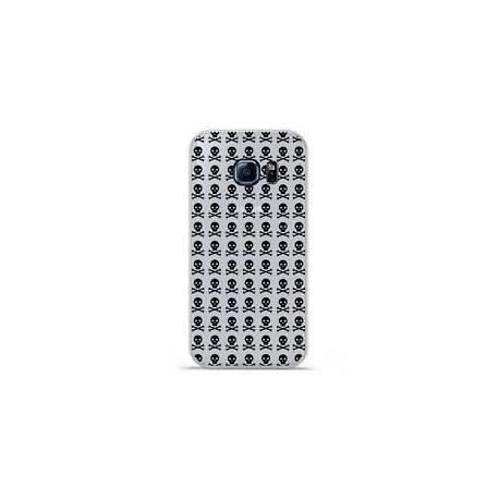 Housse Samsung S6 edge, flipcover etui noir coque Samsung galaxy S6 edge