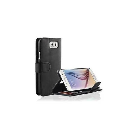 Pour Samsung Galaxy S6 - Etui Housse Portefeuille Cuir Support video