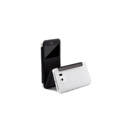 Samsung S6 EDGE Housse | Carbon noir | iCues Poblano Étui | Protège id
