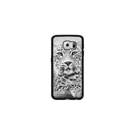 Coque Silicone Samsung Galaxy S6 (SM-G920) - L?opard Noir Et Blanc (86)