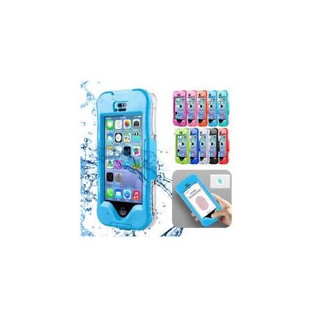 Nage étanche antichoc Empreintes digitales Scanner étui pour iPhone 5s 6s Plus