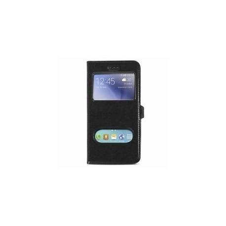 Housse Etui Clapet Folio Fenetre Noir pour Samsung Galaxy S7