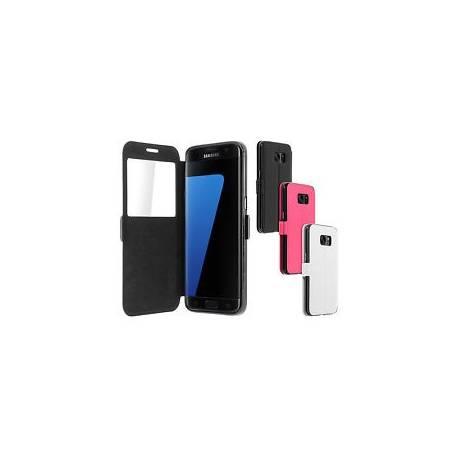 Housse Etui Clapet Fenêtre Samsung Galaxy S7 Edge - Fonction Support