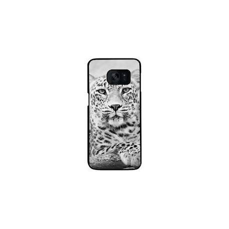 10005 - Coque Samsung Galaxy S7 (SM-G930) - L?opard Noir Et Blanc (88)