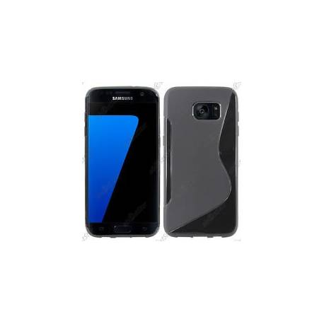 Housse Etui Coque Silicone S-line Noir Samsung Galaxy S7 edge G935F