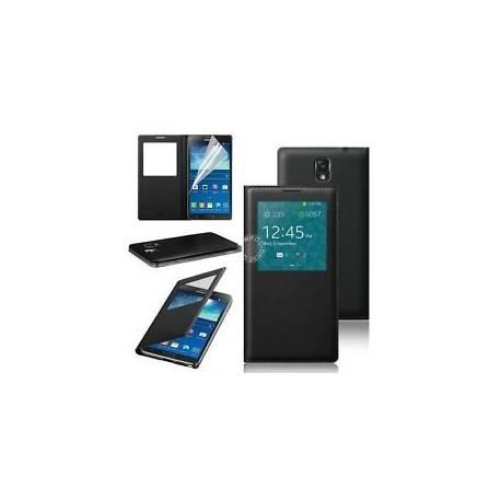 Samsung S7 edge flipcover, étui noir S7 edge, coque housse Samsung Galaxy S7edge