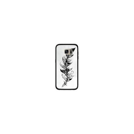 Coque Feather Plume Noir et Blanc pour Samsung Galaxy S7 Edge - LouJah