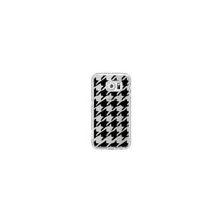Coque Vichy Gros Carre noir Transparente pour Samsung Galaxy S7 - Petit Griffin