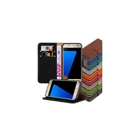 Coque Etui Housse Simili Cuir LUXE BOOK pour SAMSUNG GALAXY Portefeuille Cover