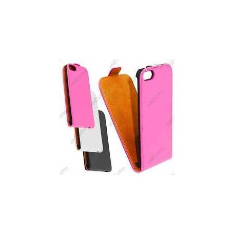 Accessoire Housse Etui Coque Rabatable Flip PU Cuir Apple iPhone 5S 5 +Film