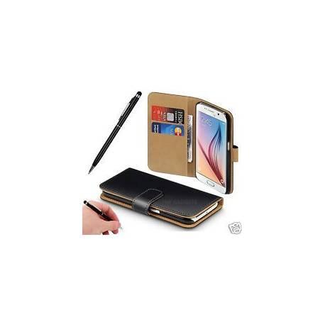 Véritable étui portefeuille en cuir cover pour iPhone-Samsung-Xperia-LG - HTC