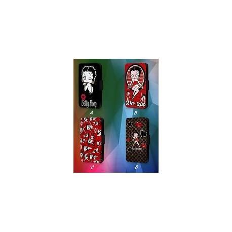 Betty Boop Design Disney dessin animé Walt en cuir synthétique à Rabat Téléphone étui Housse Y4