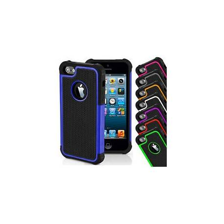 Apple iPhone 4 5 SE 6 dur silicone shock proof defender double couches case cover