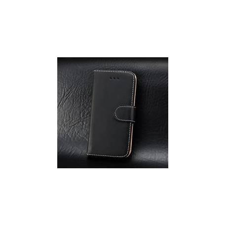 Élégante EXECUTIVE Noir Portefeuille En Cuir Cover Case Pour Apple iPhone Modèles