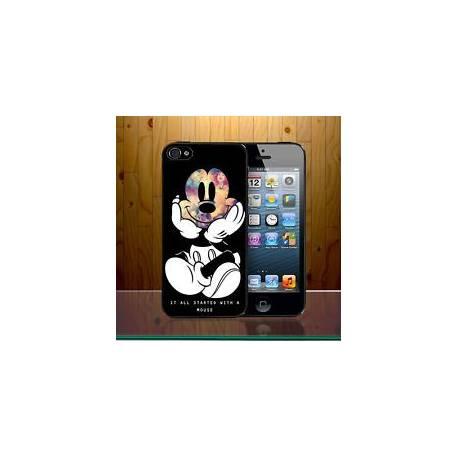 Tout a commencé avec une souris Walt Disney Mickey collage Téléphone Housse Z636