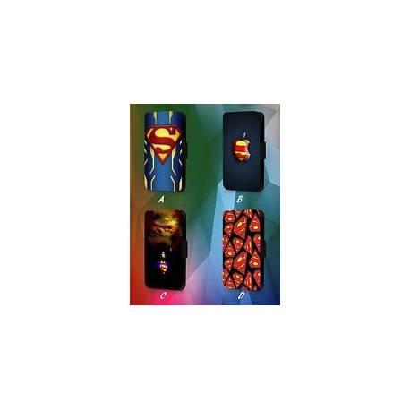 Superman Logo DC Comic Marvel AVENGERS en cuir synthétique à Rabat Téléphone étui Housse Y53