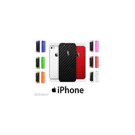 Pour Apple iPhone étui wrap autocollant décalque texturé fibre de carbone protecteur