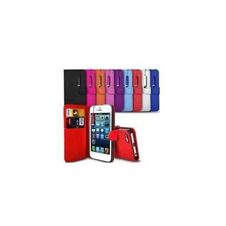 Pour Iphone 4/4S/4G Etui Housse Portefeuille Cuir PU + Un Film + Un Stylet