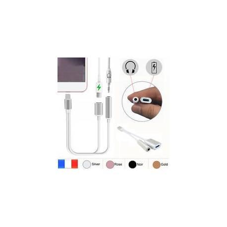 Iphone 7/ 7+ cable chargeur vers prise aux jack casque audio adaptateur écouteur