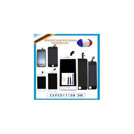 ÉCRAN LCD CADRE VITRE TACTILE BLANC/NOIR Pour IPHONE 6/5/5S/5C/4/plus