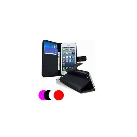 Etui Housse Coque Portefeuille Apple Iphone 4 - 4s + Film