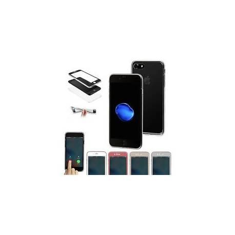 COQUE SILICONE TRANSPARENTE PROTECTION 360° INTEGRAL AVANT + ARRIERE TOUS IPHONE