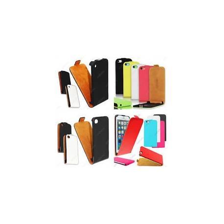 Housse Etui Coque Rabatable Flip PU Cuir Apple Serie iPhone 6 Plus 5 5S 4 4S 3