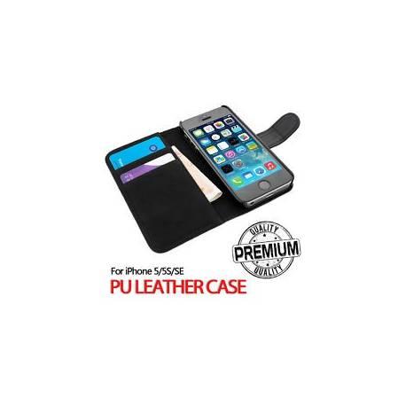 Pour Apple iPhone 5 S SE véritable rabat Portefeuille en Cuir Case Cover (B90