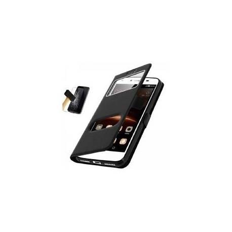Film verre Trempé + Housse Pochette Noir Apple Iphone 5 5S 5SE