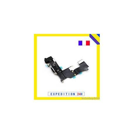 Noir Nappe Dock Connecteur Charger + Antenne + Micro + Prise Jack Pour iPhone 5S