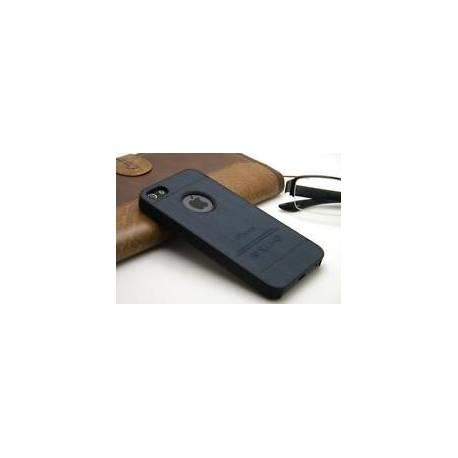 Coque Protection Anti Choc Aspect Bois Noir Iphone 5 / 5S (Apple)