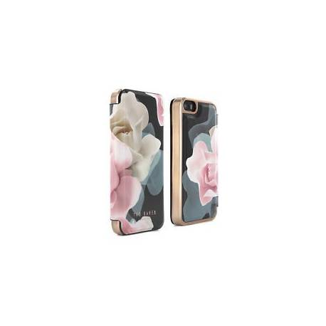 Officiel ted baker AW16 folio case pour iPhone SE/5S/5 porcelaine rose-noir