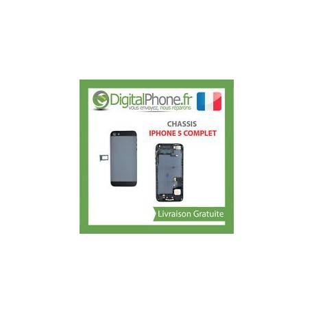 CHASSIS COQUE ARRIERE IPHONE 5 COMPLET NOIR TVA Récupérable