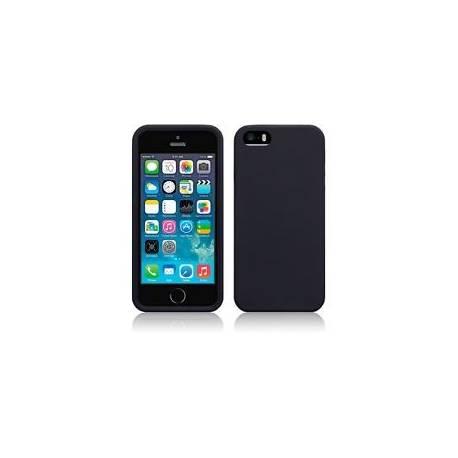 Caoutchouc silicone back cover case noir pour Apple iPhone SE/5/5S