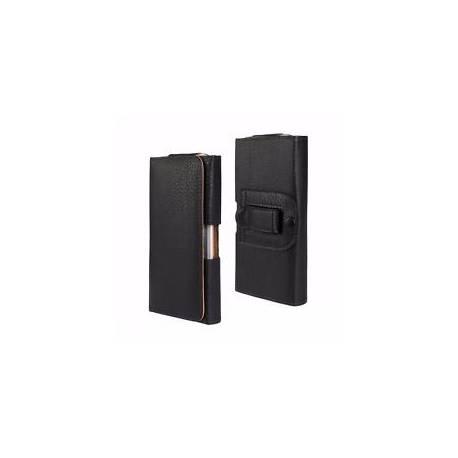 Étui - ( Noir ) universel horizontal flip pochette Clip ceinture pour iphone 6