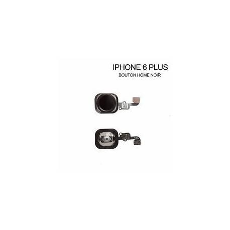 BOUTON HOME + NAPPE COMPLET IPHONE 6 PLUS Noir