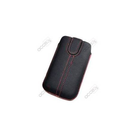 ETUI pour APPLE iPhone 7 ASPECT CRUIR GRAINE NOIR