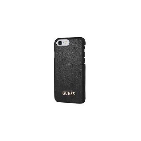 Coque Guess Style Saffiano Noir Apple iPhone 7 - Protection Elégante