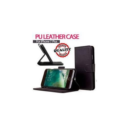 Pour Apple iPhone 7 plus véritable rabat Portefeuille en Cuir Case Cover (B75