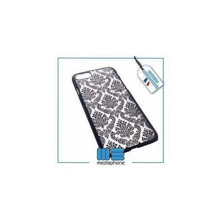 Coque de protection rigide transparente à motifs pour iPhone 7 - Baroque Noir