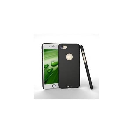 Coque perforée Rigide noir pour iPhone 7, emplacement Logo