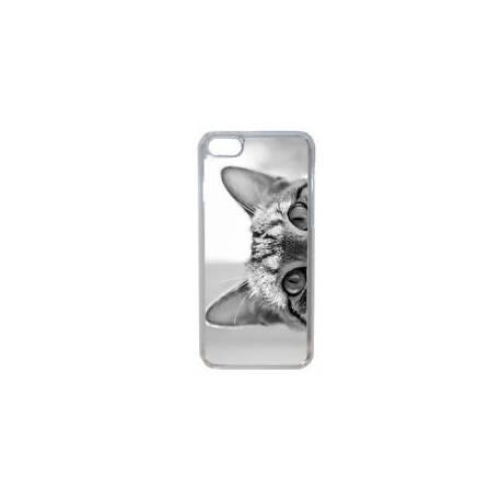 Coque Rigide Chaton Noir et Blanc Pour Apple Iphone 7